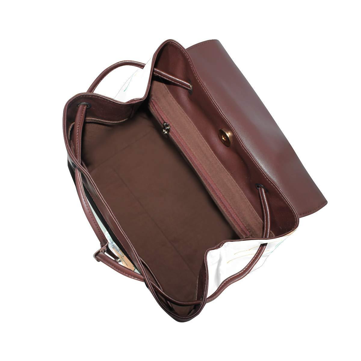 PU Leather Shoulder Bag,Koala Backpack,Portable Travel School Rucksack,Satchel with Top Handle