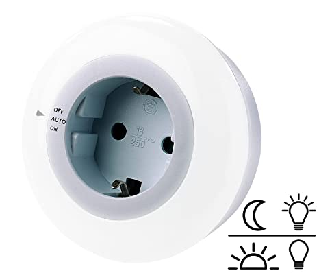 reVolt – Enchufe: – Lámpara LED de luz Nocturna con Sensor de Oscuridad y Enchufe
