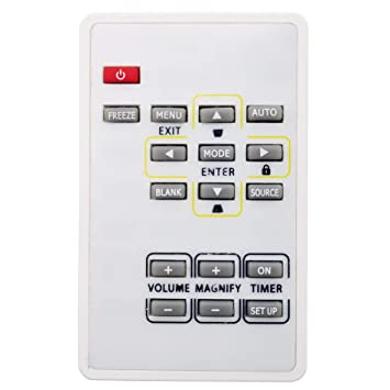 INTECHING EX200REM Projector Remote Control for Mitsubishi ES200U, EW230U-ST, EW270U, EW330U, EW331U-ST, EX200U, EX240U, EX241U, EX320U, EX320U-ST, ...