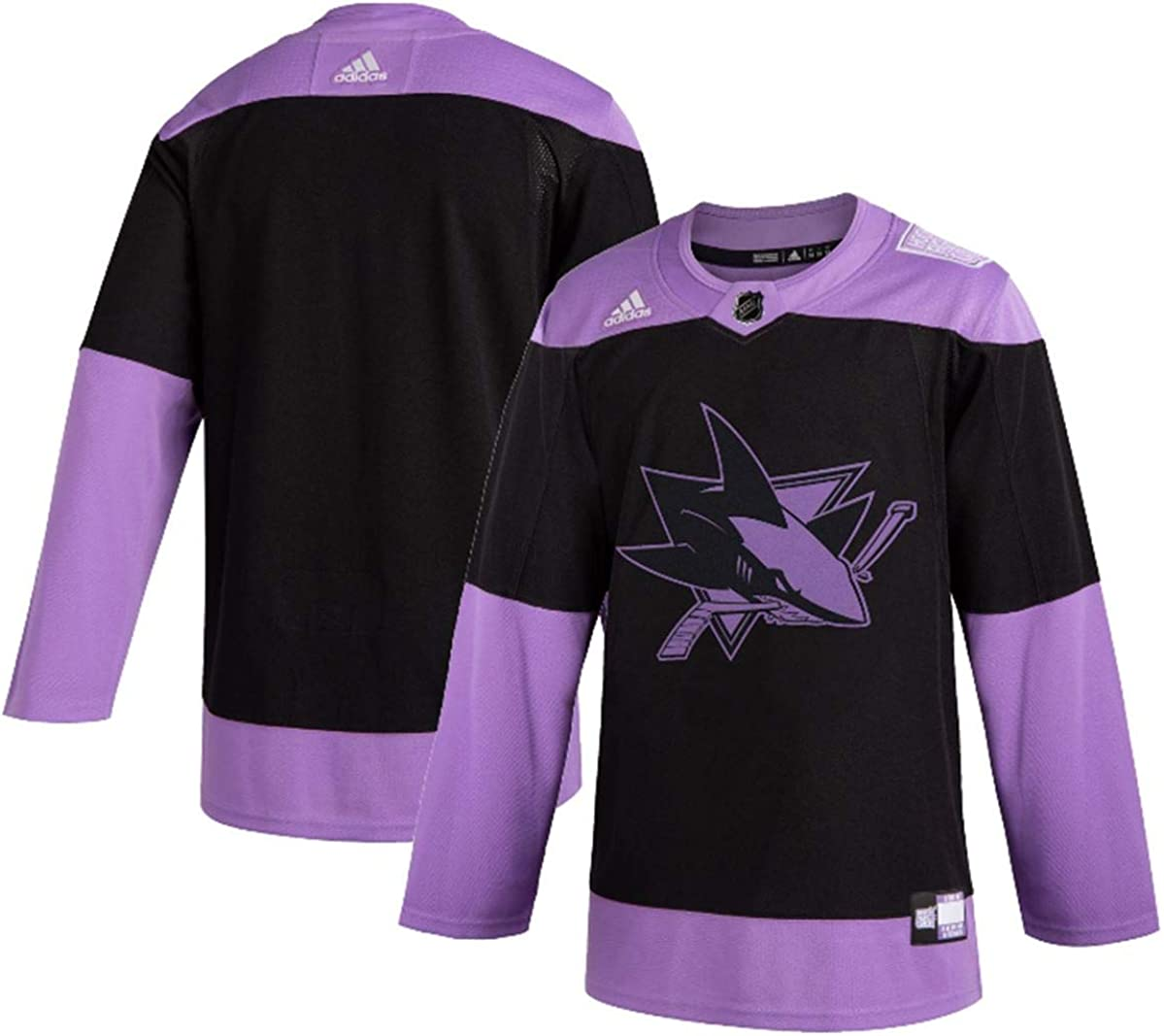 adidas San Jose Sharks Men's Hockey Fights Cancer Authentic Pro Jersey