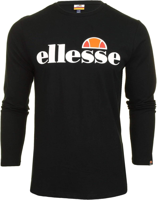 ellesse Longsleeve Herren Grazie LS T-Shirt Schwarz Black