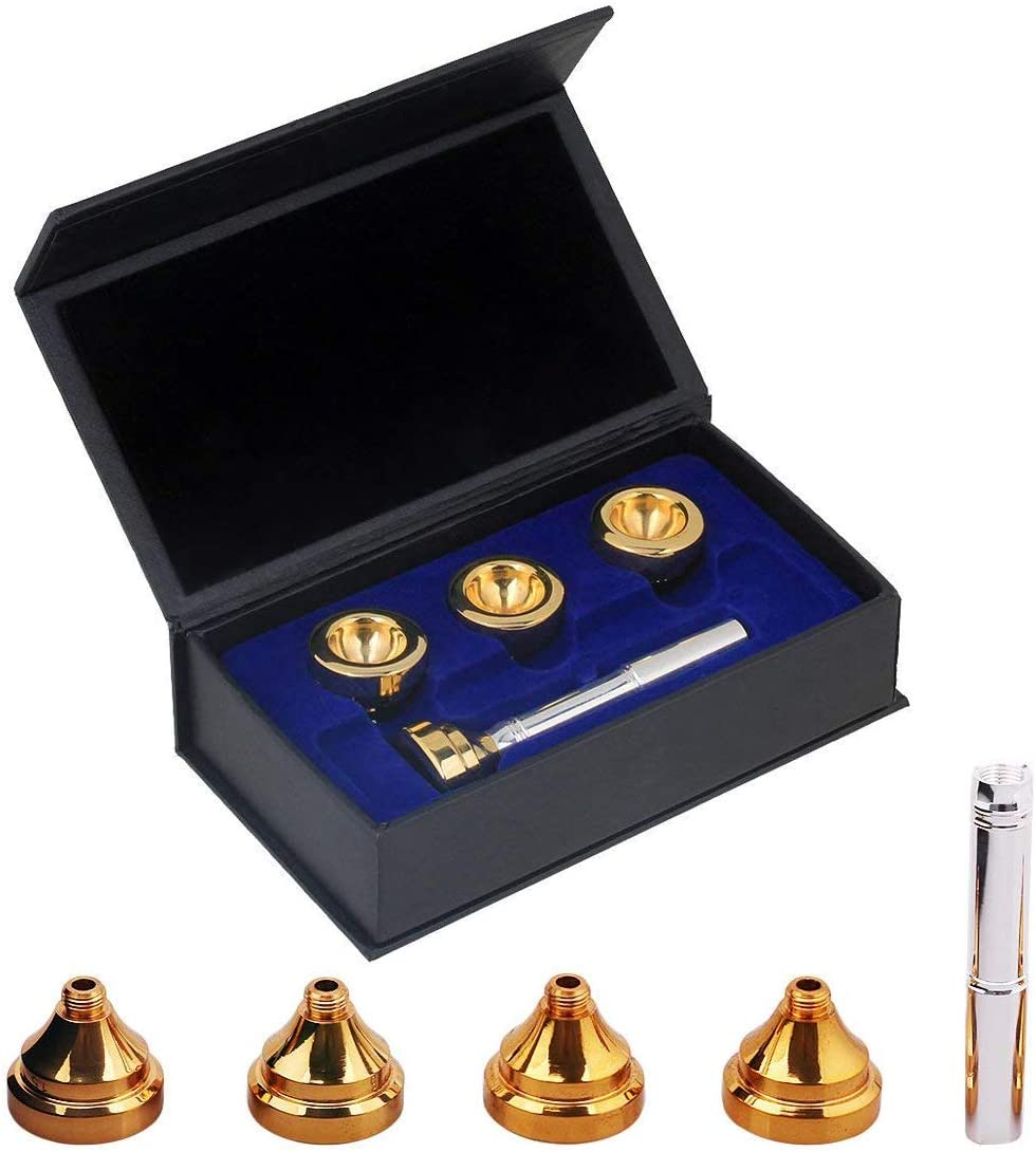 2C 4 Pack Trumpet Mouthpiece 1-1 3C 7C Size Instrument Accessory 5C Ideal Gift Suitable for Beginners and Professional Players