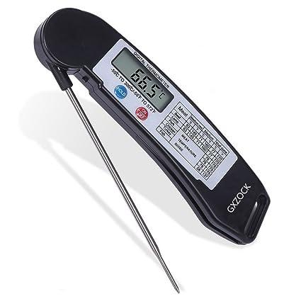 GXZOCK - Termómetro Digital de Lectura instantánea para Cocina, Barbacoa, Carne, termómetro con
