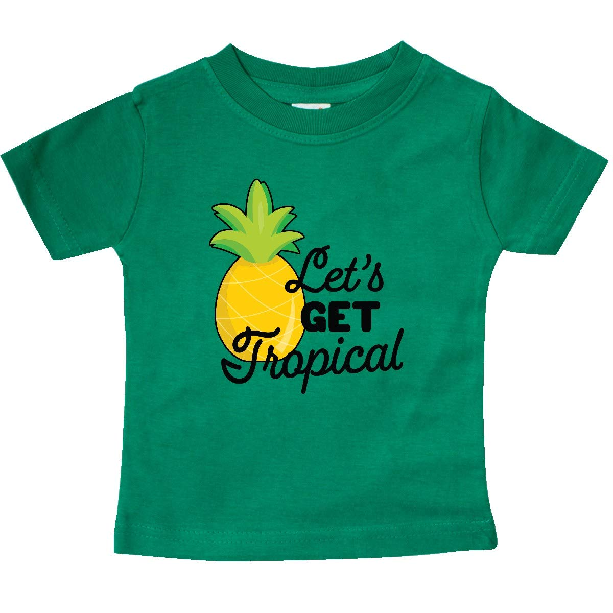 inktastic Lets Get Tropical with Pineapple Baby T-Shirt