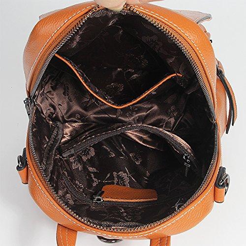 LF E 1906 portés dos cuir à épaule en Sac fashion Sac Sac portés Marron Girl femme main 5RqrRf