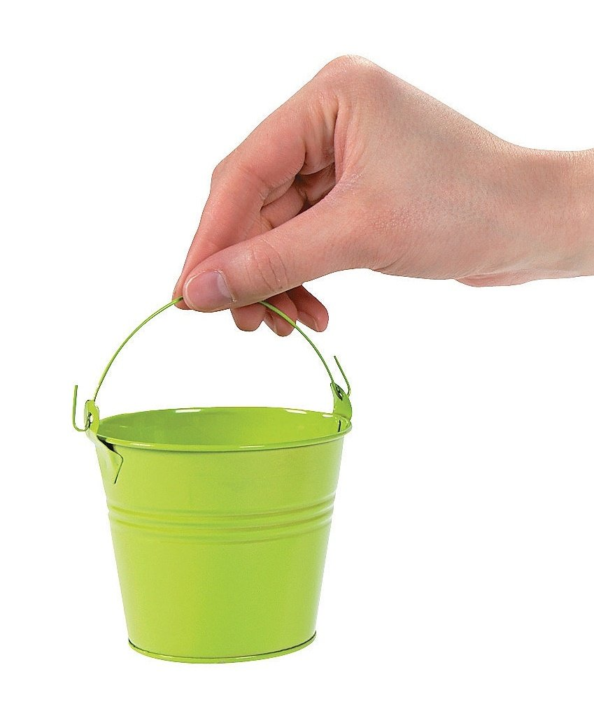 Lime green pail with handle
