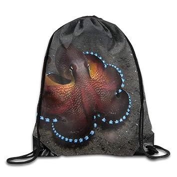 Dutars Saco Bolsa Octopus Animales de los Fondos Marinos Cuerda Mochila con cordón Bolsa a Prueba de Cortes: Amazon.es: Deportes y aire libre