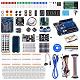 Kuman Compatible with Arduino Project Complete Starter Kit with Detailed Tutorial and Reliable Components for Mega 2560 Robot Breadboard Kits