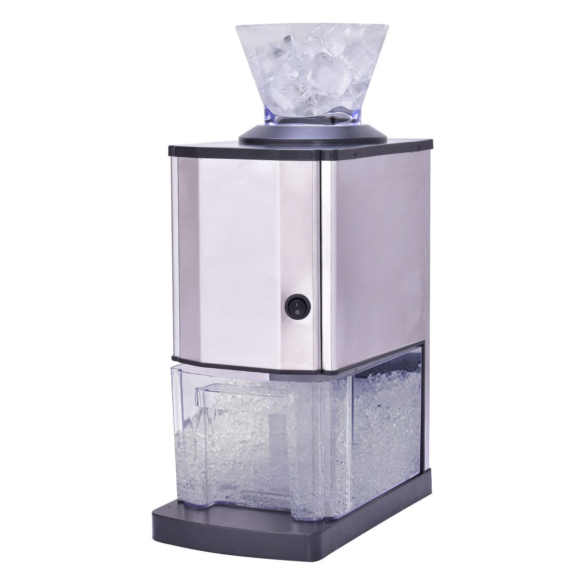 Costzon Electric Ice Crusher, Stainless Steel Snow Cone Shaver