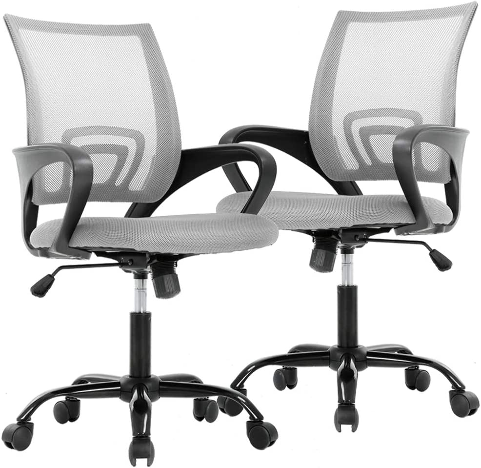 Office Chair Desk Chair Computer Chair Ergonomic Executive Swivel Rolling Task Chair for Back Support,2 Pack