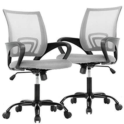 Best Office Chairs For Back Support >> Bestoffice Office Desk Computer Ergonomic Executive Swivel Rolling Task Chair For Back Support 2 Pack Grey