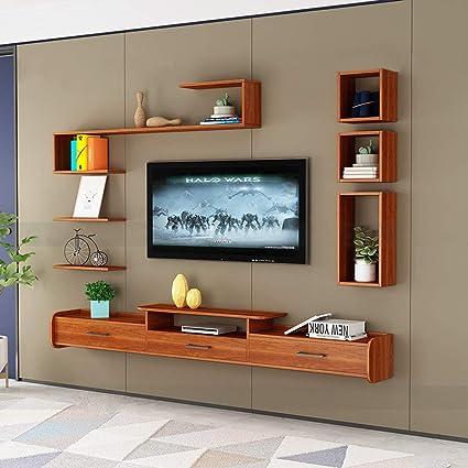 Mueble TV de Pared Dormitorio Sala de Estar con Cajon Estantes ...