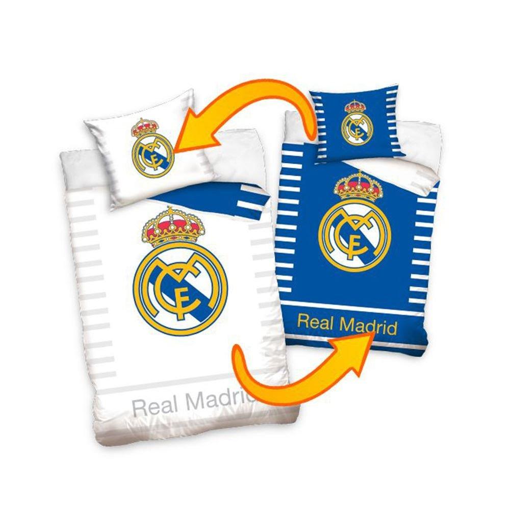 Real Madrid Bettwäsche, Baumwolle, Mehrfarbig, 27 x 39 x 4 cm