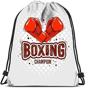 Drawstring Backpack Boxing Gloves Laundry Bag Gym Yoga Bag