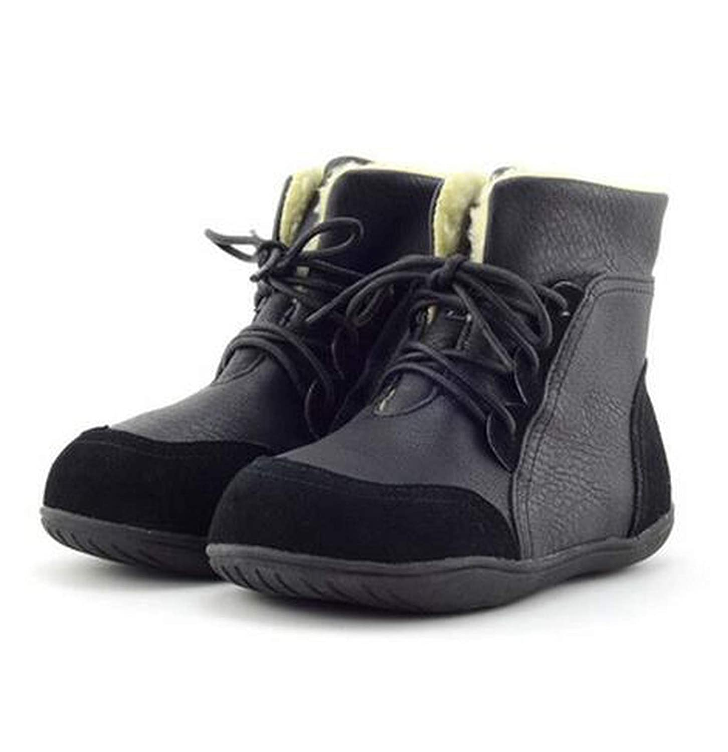 Leather Child Shoes Slip-Resistant Martin Boots Medium-Leg Cotton-Padded Sport Shoes Sneaker