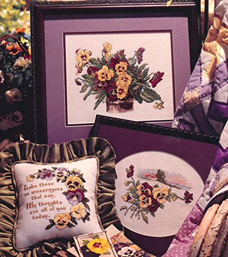 Pansies in Profusion (Cross Stitch) 10 Designs (Leaflet 2758)