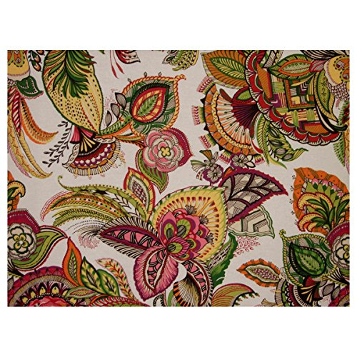 Carmela Full Size Futon Cover, 54 Inch x 75 Inch - Made in USA (Floral, Tropical, Hawaiian, Island, Garden, Plants Theme) -