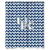 Custom NCAA Kentucky Wildcats Chevron Waterproof Polyester Shower Curtain 60x72