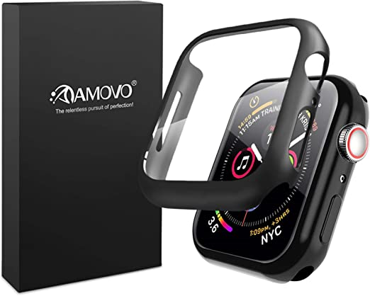 3d Full Coverage Amovo Case For Apple Watch Series 4 Series 5 40mm With Built In Glass Protector Daily Waterproof Apple Watch Screen Protector All Round Protective Case Protector 40mm Black Amazon Ca