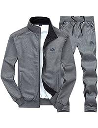 0d4dec33516f Men s Athletic Tracksuit Full Zip Warm Jogging Sweat Suits