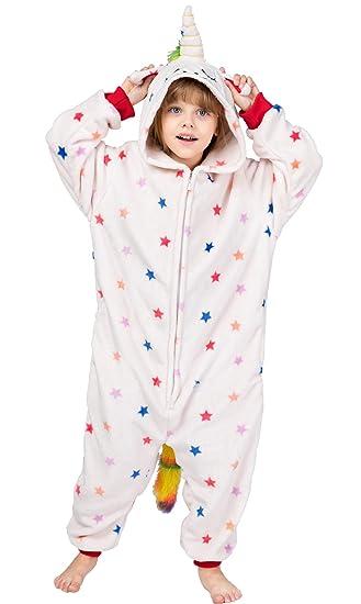 1e01417f4a Tier Einhorn Pyjamas Cartoon Kostüm Jumpsuit Nachtwäsche Kinder Schlafanzug  Erwachsene Unisex Fasching Cosplay Karneval