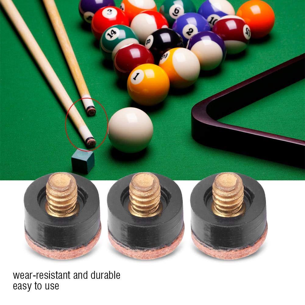 Punta de Billar de Snooker Pool,10Pcs Punteras de Taco de Billar Snooker Pool Piscina Cue Tip Punto de Palo Billar Accesorio de Piezas de Repuesto de Cue de Billar