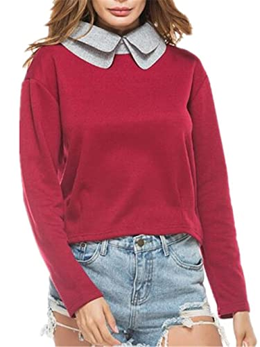 Gogofuture Pullover Mujeres Knitted Blusa Suelta De Talla Grande Oversized Camiseta Con Mangas Largas T Shirt Sudadera Ocasionales