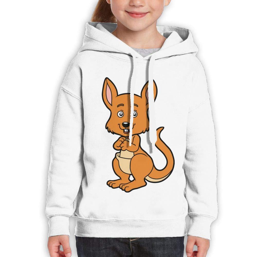 Cute Kangaroo Baby Childrens Hoody Print Long Sleeve Sweatshirts Girl