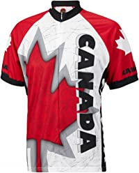 World Jerseys Canada Maple Leaf Men s Cycling Jersey Red 122d35135
