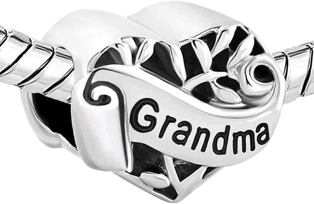 Third Time Charm Heart Love Family Charm Wife Mom Daughter Sister Grandma Aunt Niece Beads