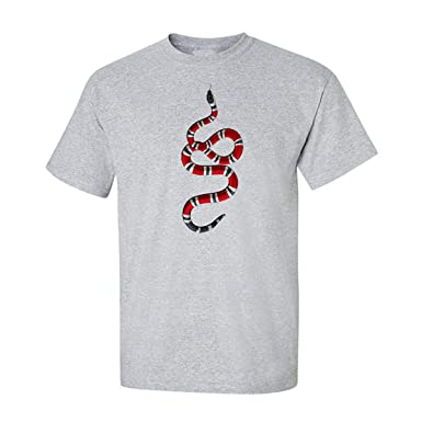8777d9dc3ea7 Gucci Coral Snake Animals Tees Graphic Funny Generic Novelty Mens Unisex T- Shirt (Small