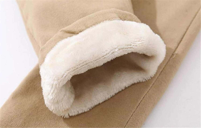 Pandapang Boys Autumn Winter Elastic Waist Fleece Harem Thicken Stretchy Pants