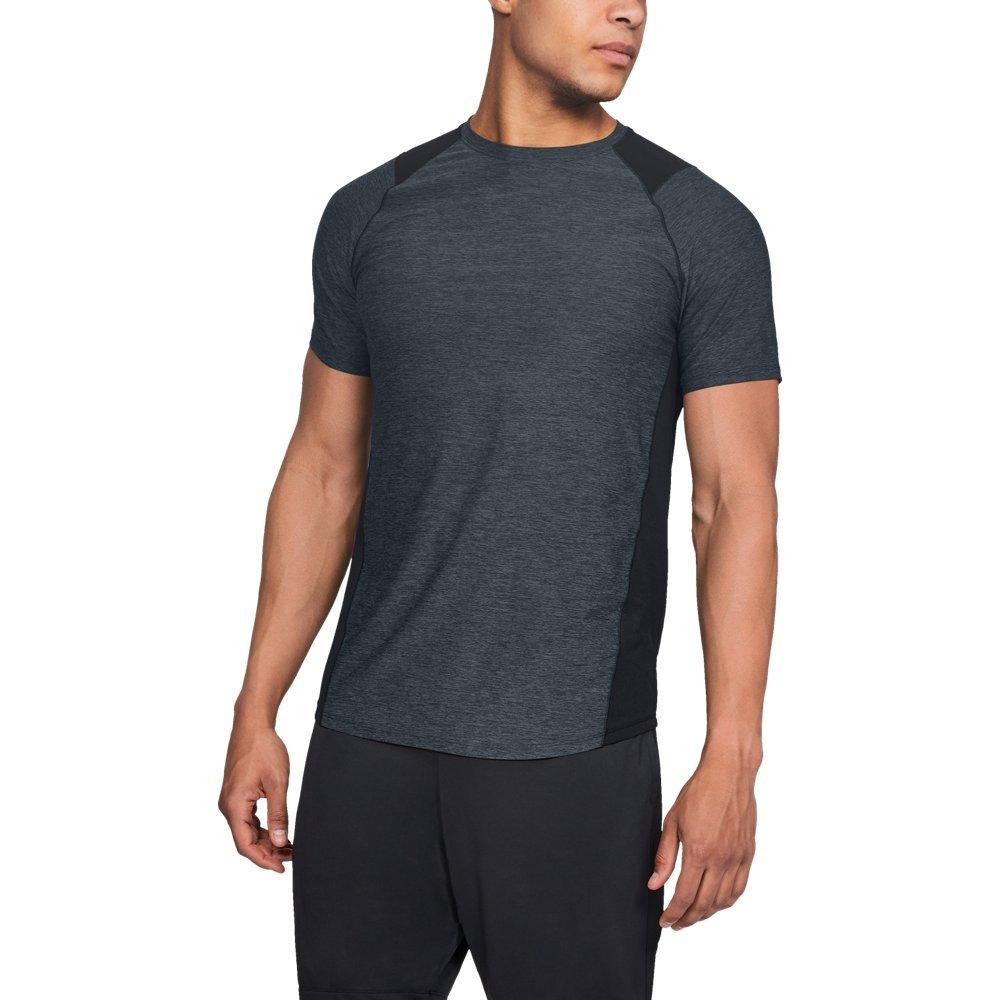 Under Armour Men's MK1 Gym Workout T-Shirt, Black (002)/Stealth Gray, Large
