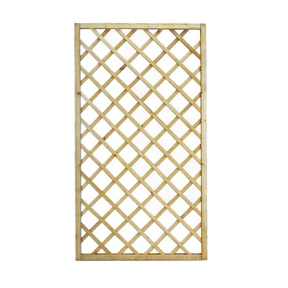 Traliccio rettangolare legno materiale trattato arredo giardino 90x180cm 00237 GLOBE TRADE