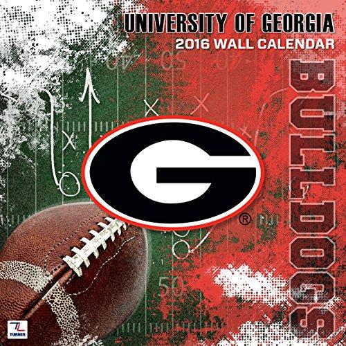 "Turner Georgia Bulldogs 2016 Team Wall Calendar, September 2015 - December 2016, 12 x 12"" (8011801)"