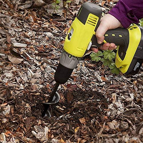 50mm*450mm pour fleur planter des arbres arbustes 1x M/èche jardin tari/ère creuser des trous cultiver en profondeur outil de plantation pratique