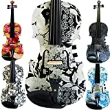 Leeche Premium Handmade Acoustic & Electric Violin 4 4 Full Size Kit Solid Wood Violin with Ebony Fittings-E310