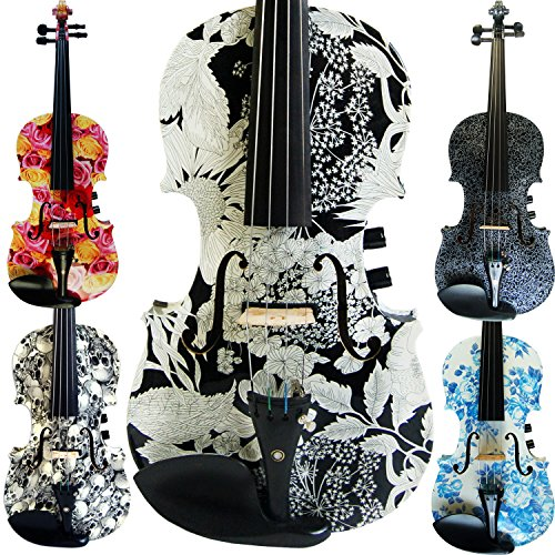 Leeche Premium Handmade Acoustic & Electric Violin 4 4 Full Size Kit Solid Wood Violin with Ebony Fittings-E310 by Leeche