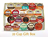 20 Cup FALL FLAVORS Inspired Flavored Coffee GIFT BOX Sampler! Delicious Fall Inspired Flavors! Perfect GIFT!