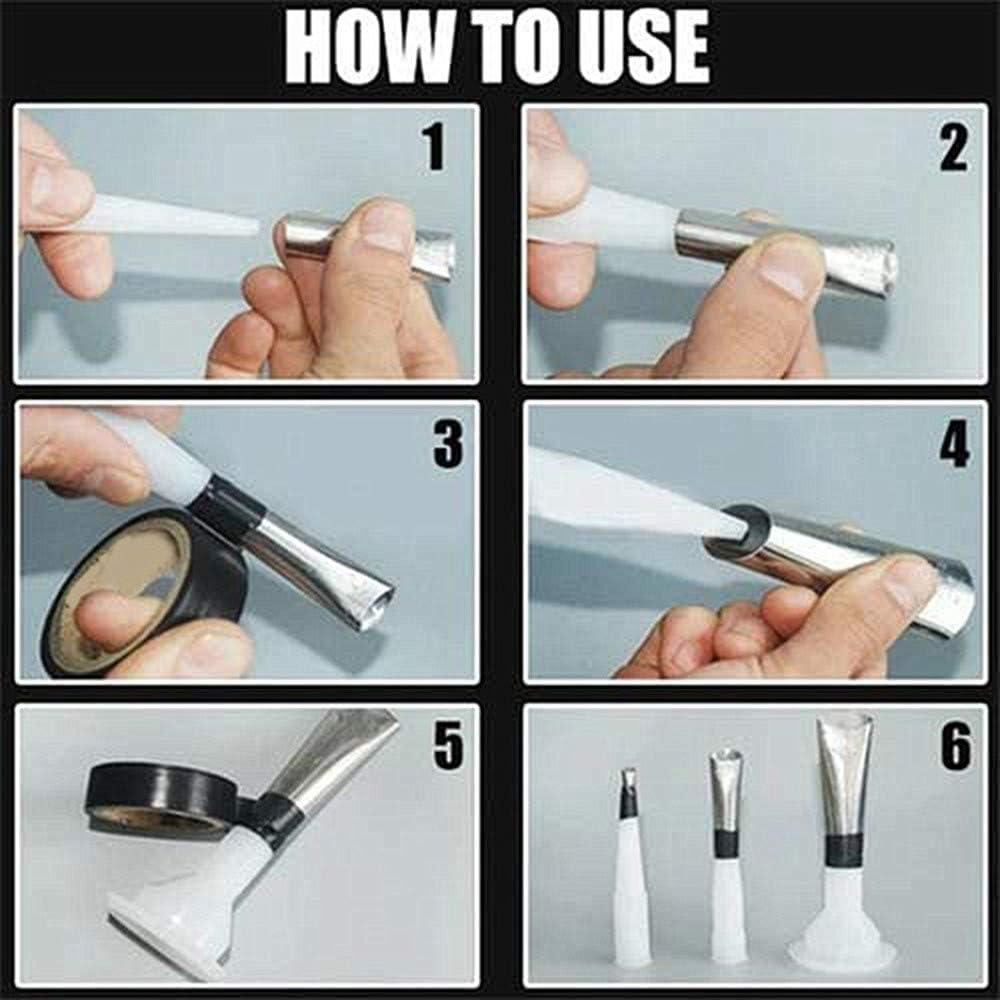 ba/ño o ventana para sellar boquillas de calafateo de acabado para cocina Kit de aplicador de boquillas de calafateo de acero inoxidable reutilizable 14 unidades