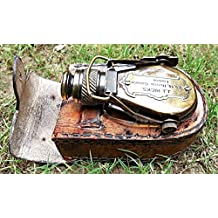 Antique Style Ships Pocket Monocular with Leather Box - Brass Pocket Telescope.3232