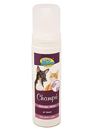 BPS (R)) Champú de Espuma Seca, Shampoo para Perro, Gato, Animales Domésticos BPS-4265: Amazon.es: Deportes y aire libre