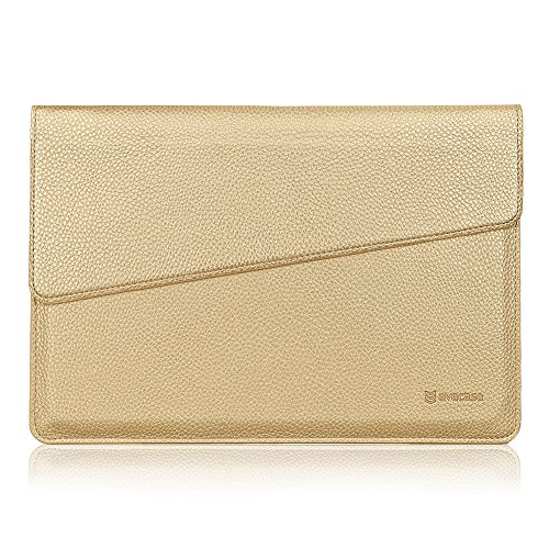 Price comparison product image Google Pixel C Case Sleeve, Evecase Envelope Leather Carrying Sleeve Case for 10.2 inch Google Pixel C Tablet Laptop, Compatible with Google Pixel C Keyboard – Champagne Gold