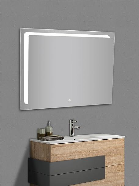 Specchio Bagno Led 100.Yellowshop Specchio Specchiera Cm L 100 X H 80 A Luce Led