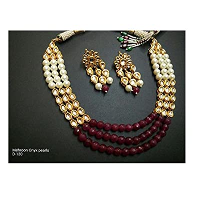 ef49da9e985e0 Amazon.com: Bollywood Bridal Necklace Jewelry Set Indian Traditional ...