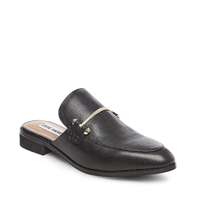 Amazon.com | Steve Madden Women's Laaura Black Leather Casual 10 US | Shoes
