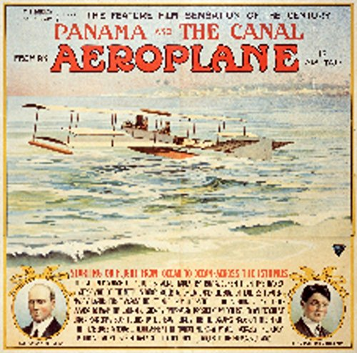 - Panama and the Canal from an Aeroplane Vintage Poster (artist: Anonymous) USA c. 1912 (36x54 Giclee Gallery Print, Wall Decor Travel Poster)