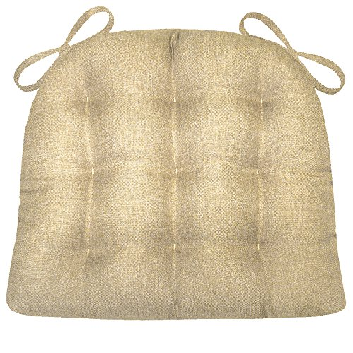 Barnett Products Dining Chair Pad with Ties - Hayden Beige H