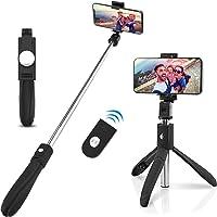 WINSUNY Palo Selfie Móvil Stick Bluetooth con Trípode para Autofoto Extensible de Control Remoto 3 en 1 Selfie Stick Inalambrico Monopod Obturador Deportivo Rotación 360 Grados para iPhone XS Samsung Huawei Xiaomi