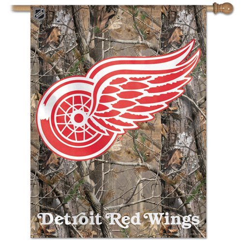 NHL Detroit Red Wings 27-by-37-Inch Vertical Flag Real Tree
